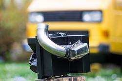 Luftfilter, Luftfiltergehäuse, Ansauganlage VW T3 TDI Umbau mit Zyklonfilter VW T3