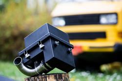 Luftfilter, Luftfiltergehäuse, Ansauganlage VW T3 TDI Umbau hier 2WD heckgetrieben