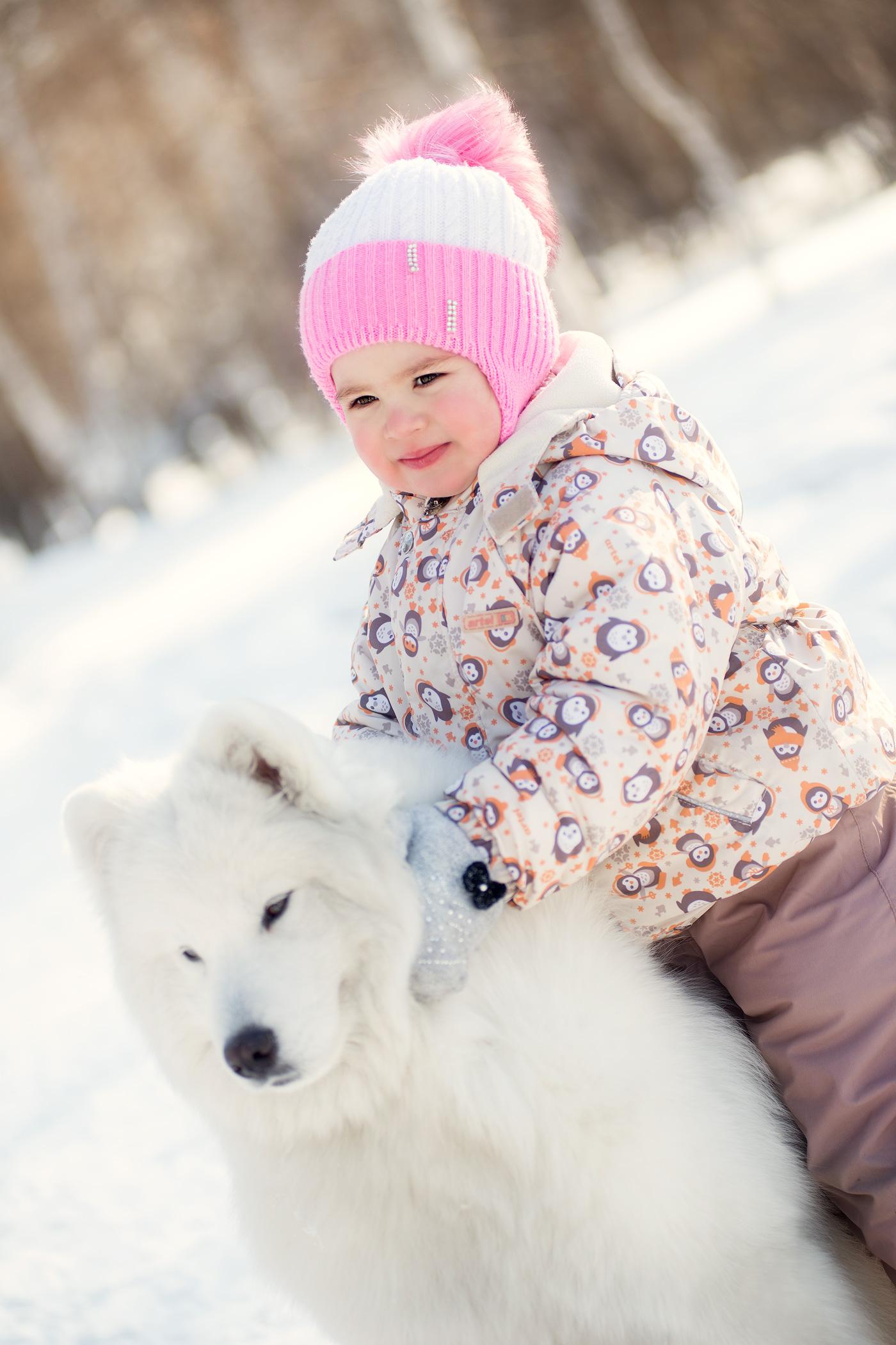 Зимний детский портрет