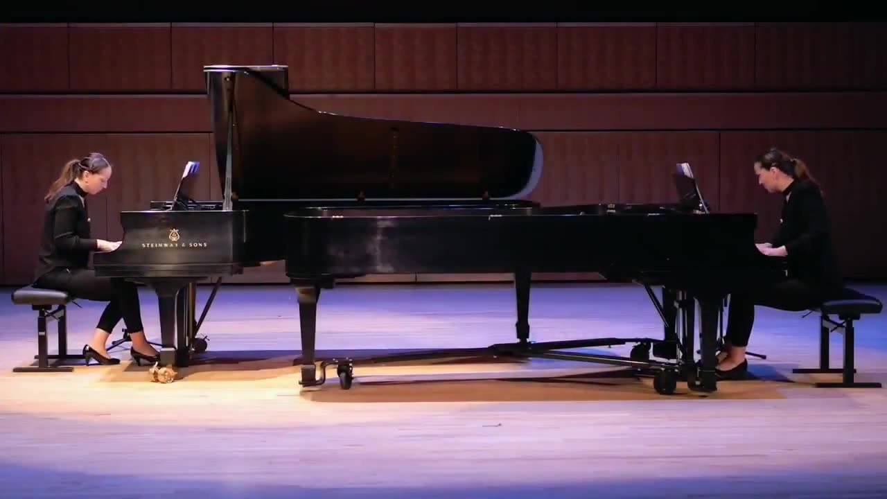 Ani and Nia Sulkhanishvili's outstanding performance of my Sonata for Two Pianos (excerpt, 2nd Movement). If you haven't yet seen the full recording, please visit my YouTube channel at www.youtube.com/c/markmaarder. Don't forget to subscribe!