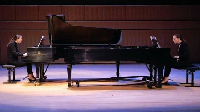 Ani and Nia Sulkhanishvili's virtuoso technique and remarkable musicality in the finale of my Sonata for Two Pianos. Watch the complete performance at www.maarder.com/videos, and  let me know what you think! @aninia_sulkhanishvili @instaclassical #mu