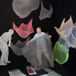 Artist's studio installation