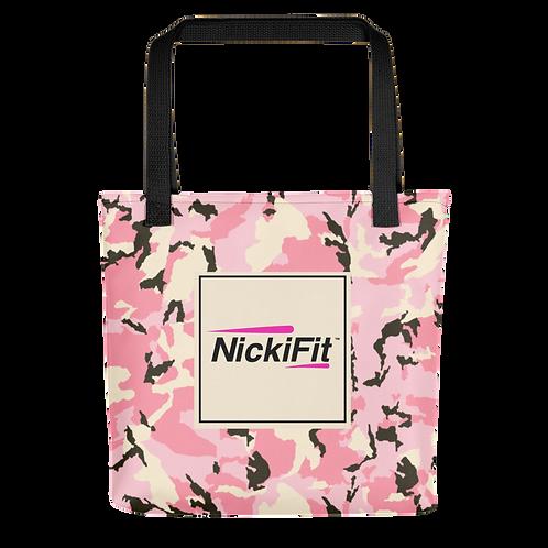 Pink Camo Tote Bag
