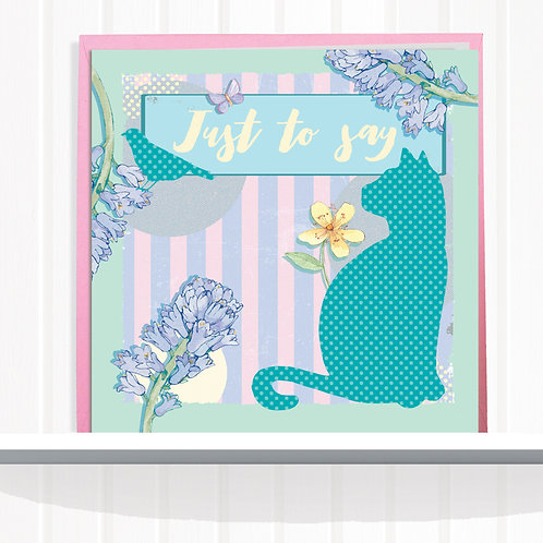Message Me Range Greeting Card set of 6 code AR01178JUS Just to Say