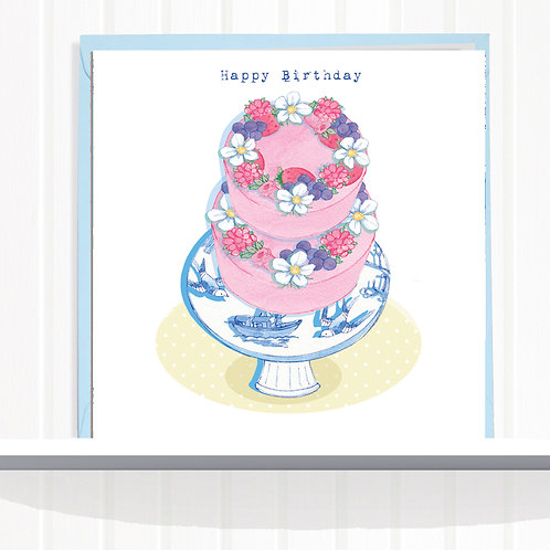 Willow Love Birds Range Greeting Card Blank inside set of 6 Code AR0135WILL