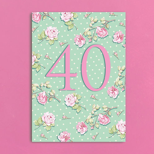 Age Forty Postcards set of 12