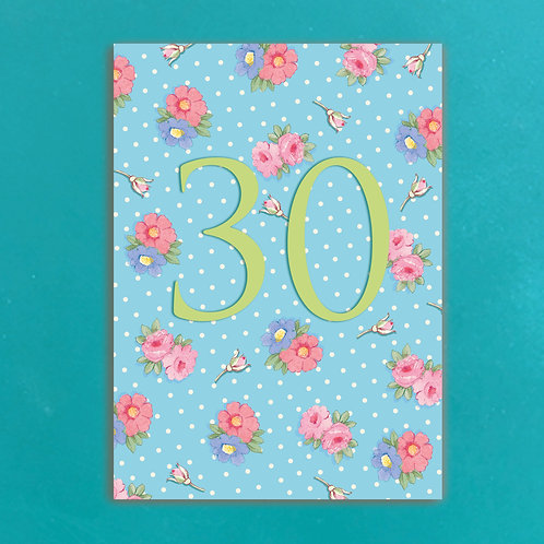 Age Thirty Postcards set of 12