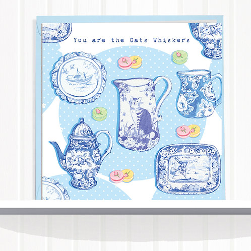 Willow Love Birds Range Greeting Card Blank inside set of 6 Code AR0137CATS Cats