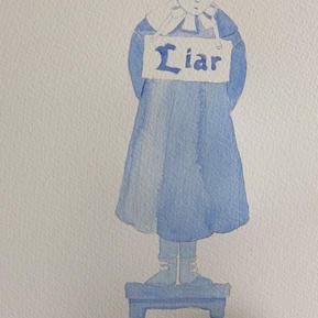 Jane Eyre at Lowood Liar watercolour