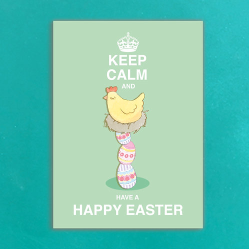 Keep Calm & drink have a Happy Easter Postcards set of 12