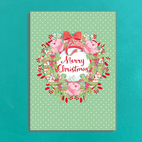 Keep Calm & have a Happy Christmas Postcards set of 12