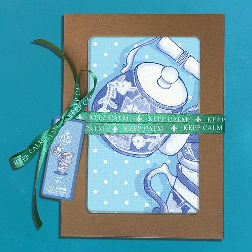 Teatowel Keep Calm and Drink Tea Gift Box