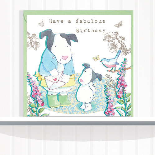 Foxglove Dell Range Greeting Card Blank inside set of 6