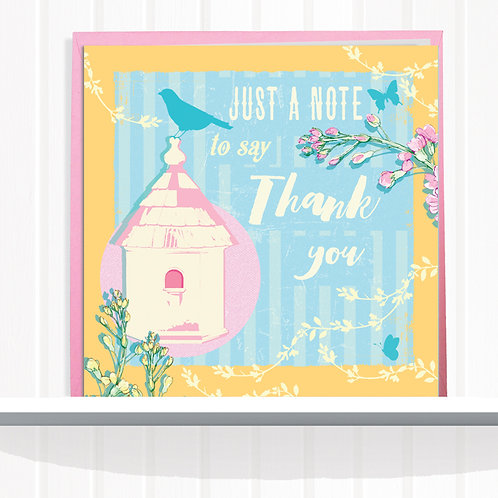 Message Me Range Greeting Card set of 6 code AR0119NOTE Just a Note