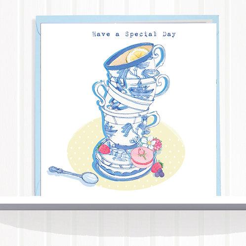 Willow Love Birds Range Greeting Card set of 6 Code AR0142TEA Teacup