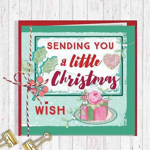Christmas Range Greeting Card Blank inside set of 6 Code AR070WIS Wish