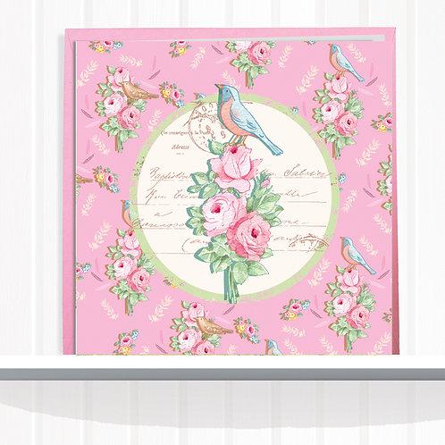 Songbird Range Greeting Card Blank inside set of 6