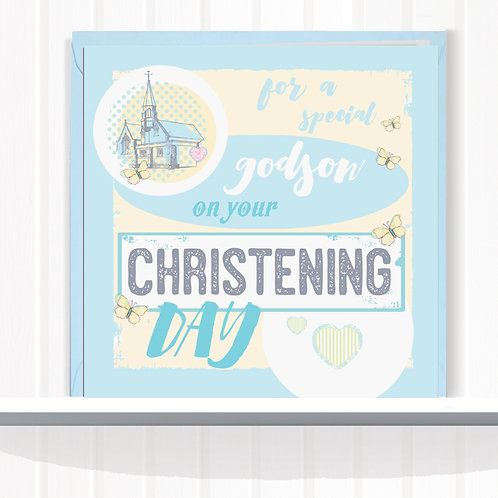 Message Me Range Greeting Cards  set of 6 code151SON Godson Christening