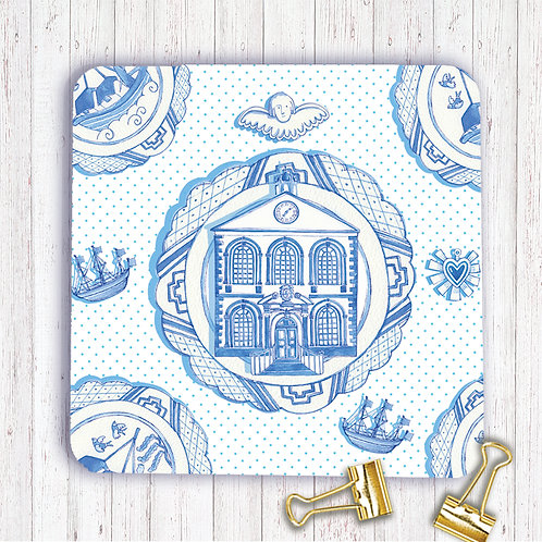 Set of 6 Coasters AR0COABLUPL Bluecoat Plate