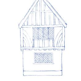 Thomas Oken Tearooms Sketch