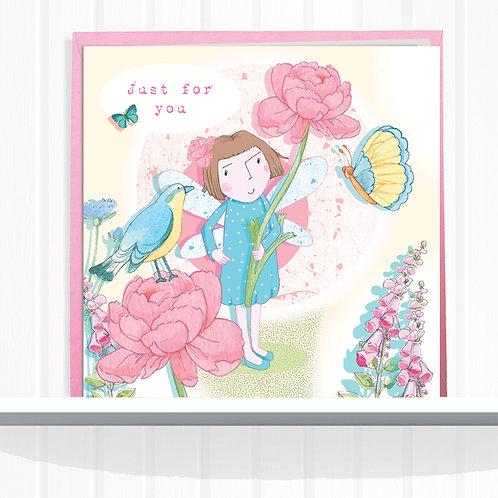 Fairies of Foxglove Dell Range Greeting Card CodeAR0120JOY Fairy Joy