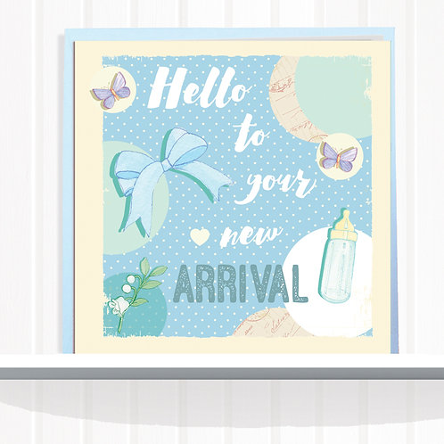 Message Me Range Greeting Card set of 6 codeAR086BOY New Arrival Boy