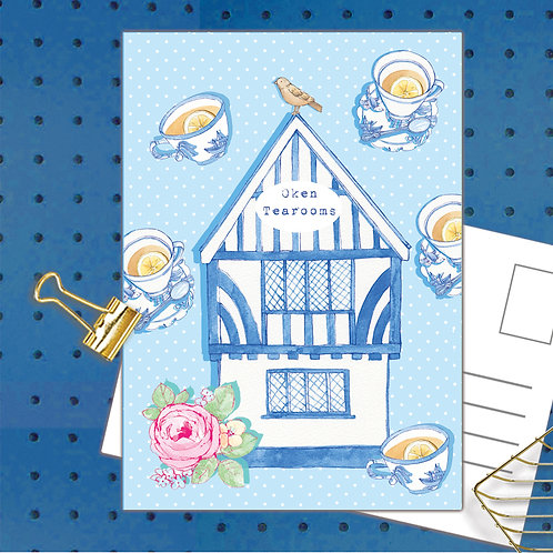 Oken Tearooms Postcard  set of 12 CodePOSTOKE44 Oken Tearooms