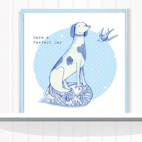Willow Love Birds Range Greeting Card set of 6 CodeAR0139TALL Tall Dog