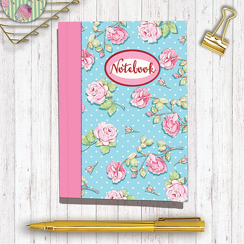 Set of 6 Notebooks CodeA6NB01 Roses