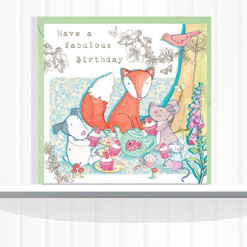 Foxglove Dell Range Greeting Card Blank inside set of 6 Code