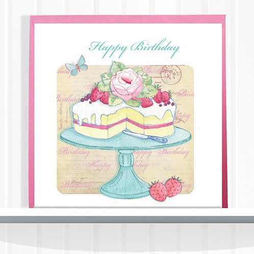 Vintage Home Range Greeting Card Blank inside set of 6