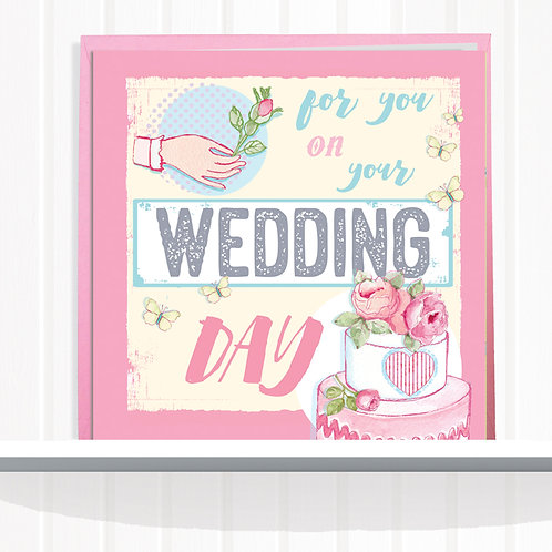 Message Me Range Greeting Card set of 6 code AR081WED Wedding Day
