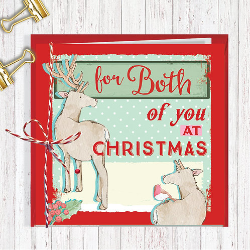 Christmas Range Greeting Card Blank inside set of 6 Code AR071BOT Both of You