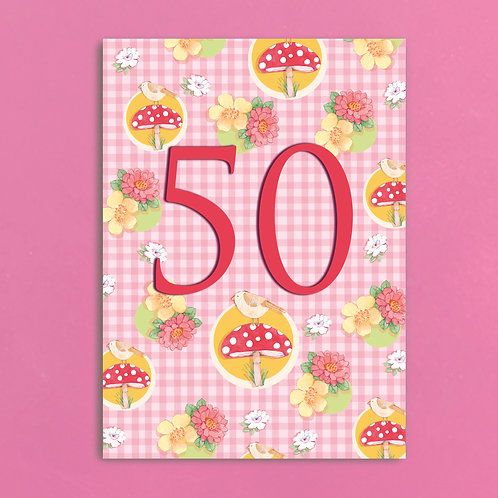 Age Fifty Postcards set of 12