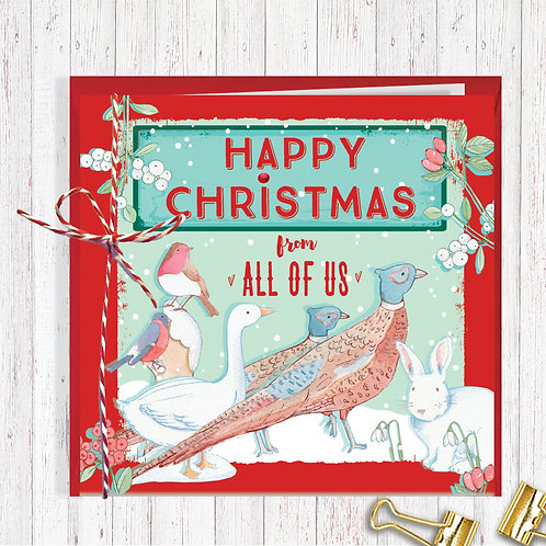 Christmas Range Greeting Card Blank inside set of 6 Code AR073US All of Us