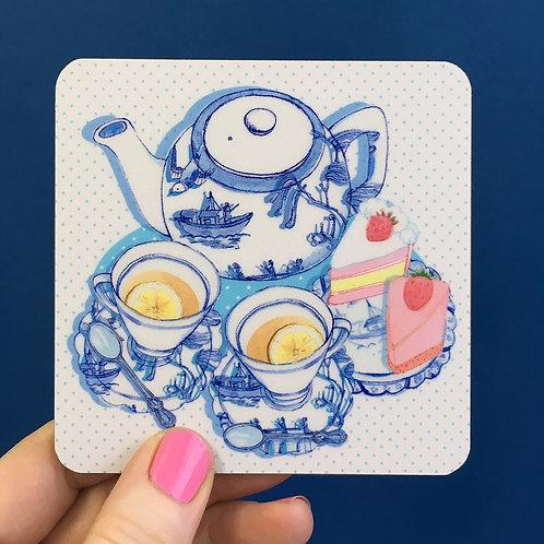 Set of 6 Coasters Afternoon Tea