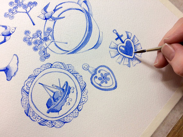 Love Birds Siobhan Harrison Working Proc