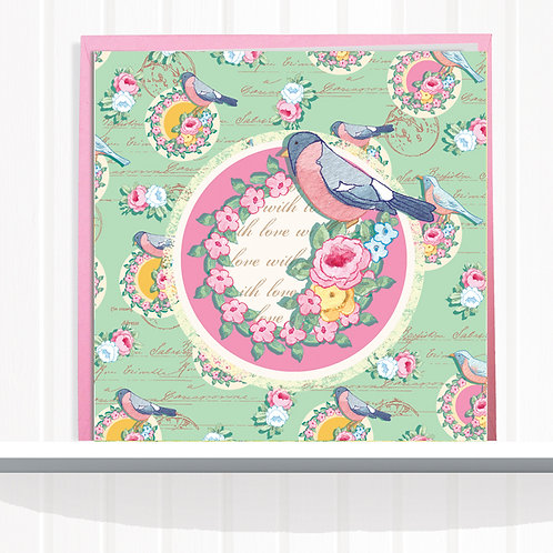 Songbird Range Greeting Card Blank inside set of 6
