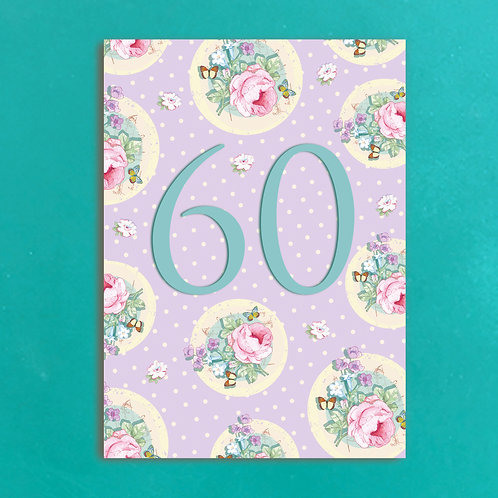 Age Sixty Postcards set of 12