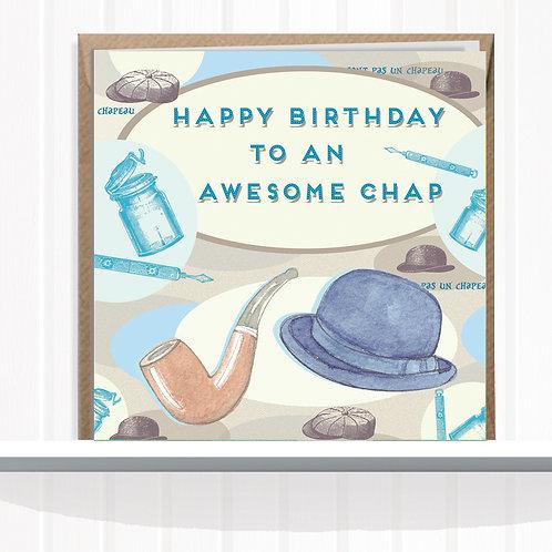 Vintage Chap Range Greeting Card Blank inside set of 6