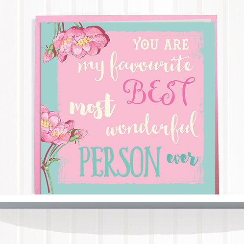 Message Me Range Greeting Card set of 6 code AR057PER Person