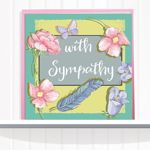 Message Me Range Greeting Card set of 6 code AR056SYM Sympathy