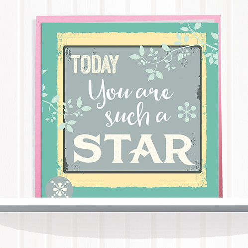 Message Me Range Greeting Card set of 6 code AR061STA Star