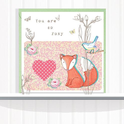 Foxglove Dell Range Greeting Card Blank inside set of 6 Code AR025FOX Foxy