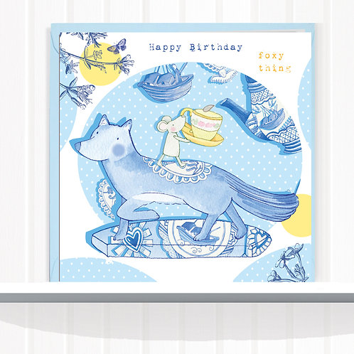 Willow Love Birds Range Greeting Card set of 6 code AR0157FOX Fox