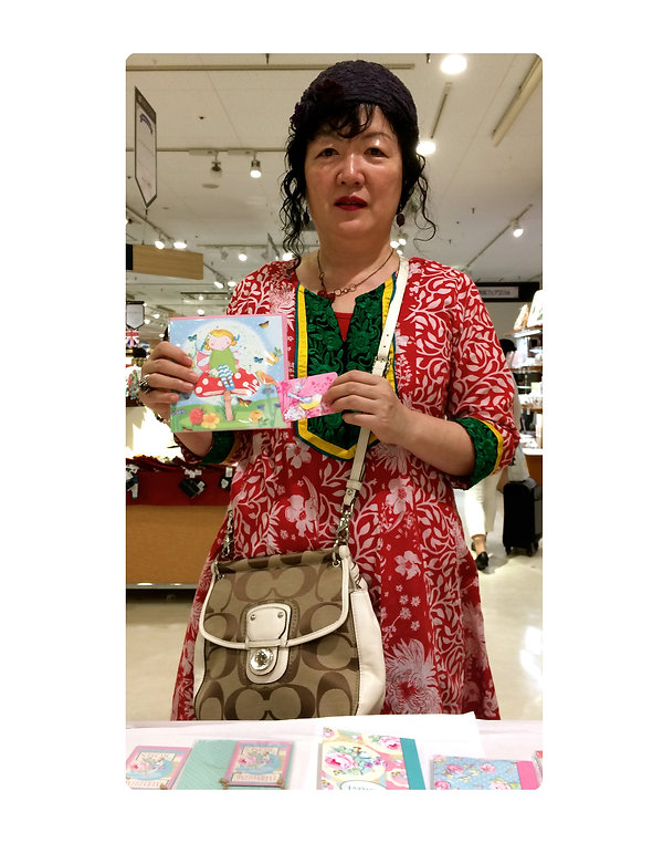 customer with April Rose Notebook Card c