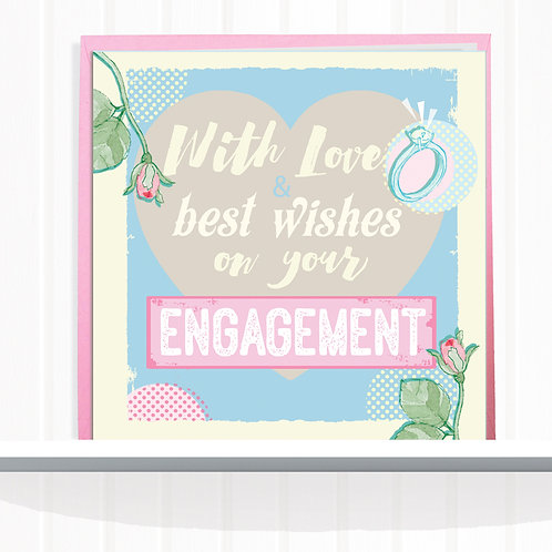 Message Me Range Greeting Cards set of 6 code AR082ENG Engagement