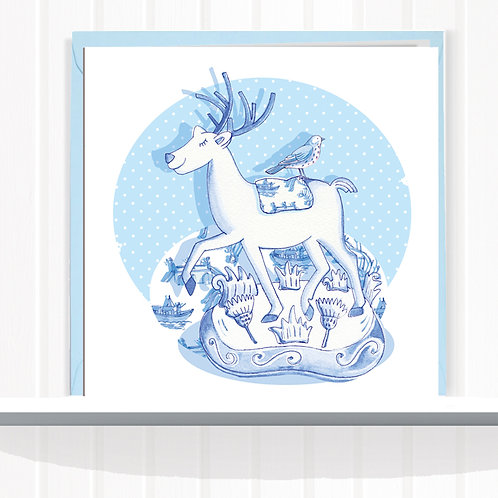 Willow Love Birds Range Greeting Card set of 6 CodeAR0140HIG Highland