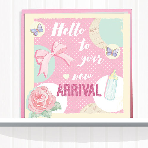 Message Me Range Greeting Card set of 6 Code AR085GIR New Arrival Girl