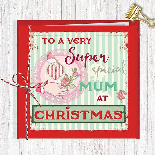 Christmas Range Greeting Card Blank inside set of 6 Code AR068SPE Special Mum
